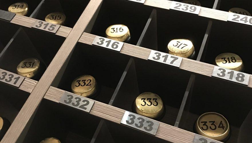 Numéro chambre plaque dibond gravée