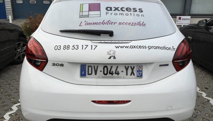 Décoration véhicule utilitaire vitre arrière microperforé